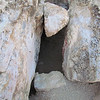 The one entrance to the first cave.  This was a bit of a climb down so we went in from beyond these rocks where it was easier.