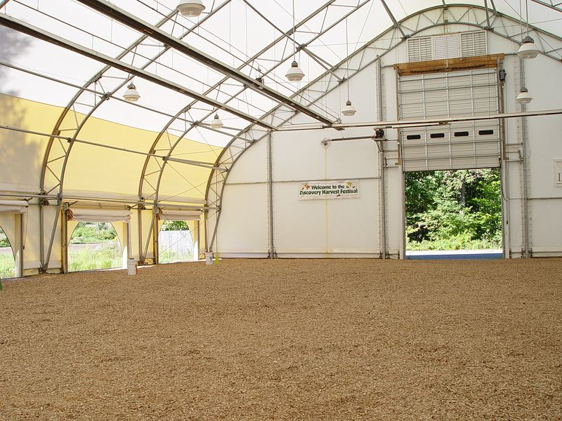 Coverall Riding Arena at Milligan Hill Farm