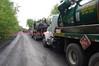 Oil spill northwest of Our Lady of Lourdes Regional School.