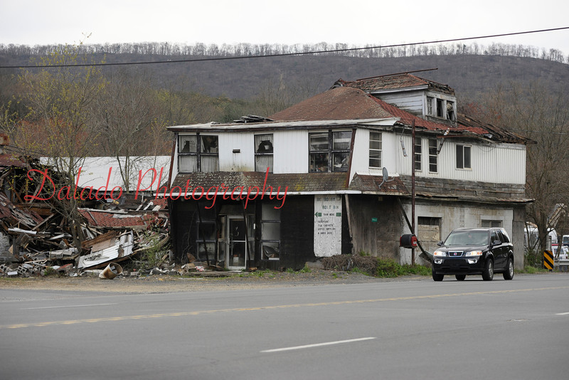 A building along Route 61 in Paxinos. (2012