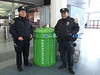 with NYPD Officers Alvarez and Garcia at the Staten Island Ferry terminal