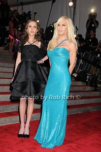 Allegra Versace, Donatella Versace photo by Rob Rich © 2009 robwayne1@aol.com 516-676-3939