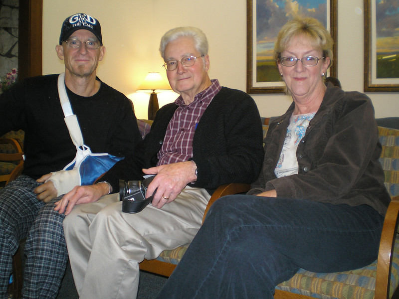Dorothy Hill generously gave her time to chauffeur Karl over to Santa Rosa, where he met with Dr. Bennett for his first follow up appointment.  It was wonderful to have the support of Dad/Grandpa, who came with a long list of questions from Mom/Grandma and Linda.