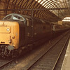 With the imminent demise of the Deltic's I spent a couple of days on the ECML in a bid to travel with as many as possible - in the event catching 6 (5 required). Here 55014 waits at Kings Cross on 14/04/81 with the 10 05 for York.