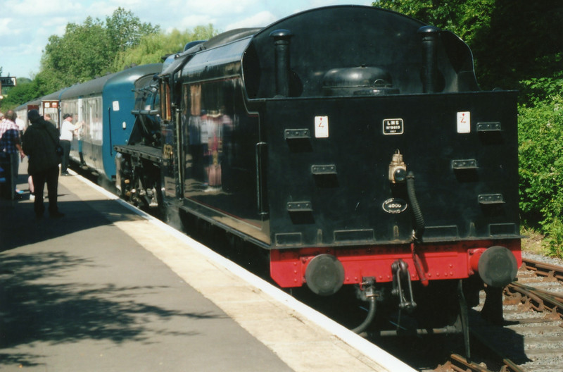 My first visit, on 08/06/14, to the Epping & Ongar Railway sees visiting (from the Mid Hants) Black 5 45370 - having arrived at Ongar with the 09 50 ex North Weald.
