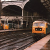 Liverpool Street on 25/04/83 sees 47568 on the 08 30 for Norwich - with 47074 and 31112 in the background.