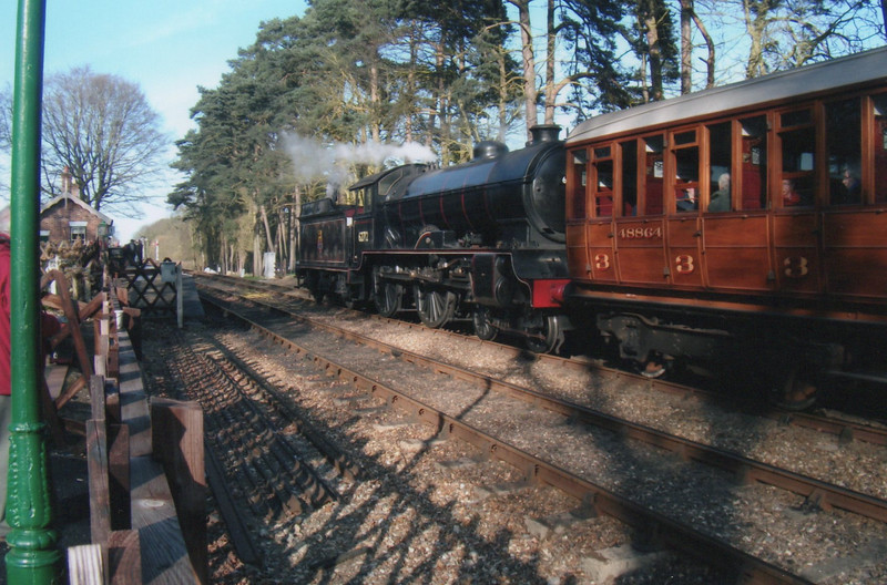 4-4-0 62712 stands ready to depart Holt on 06/03/15 with the 14 37 Quad Art set to Sheringham