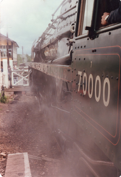 Another view of 70000 on the Nene Valley Railway.