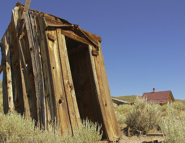"Even Bodie's outhouses are of historical interest...but no, I didn't, er, ""go"" inside. :o)"
