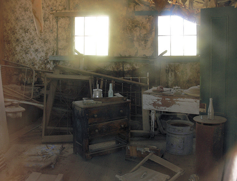 "Here again is one of the many residence interiors.  A quote from Bodie.com--""The town was abandoned so abruptly, that thousands and thousands of artifacts were simply left behind because they were too heavy, or too much to haul from one place to another."""