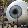 The giant eyeball. Artist and sculptor Tony Tasset's
