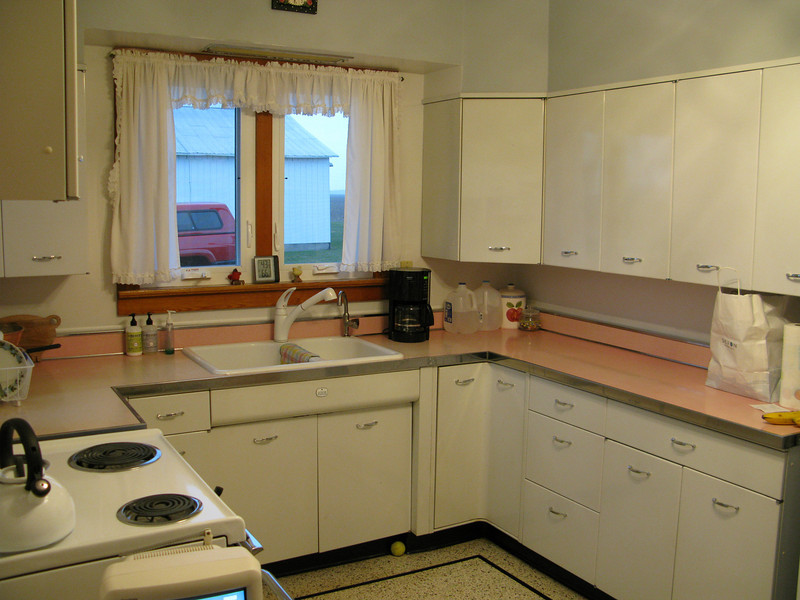Our farm kitchen. Exactly as it appeared in 1960 with the exception of a new sink and faucet.