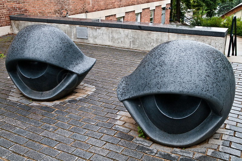 Louise Bouguois Eye sculptures at<br /> Williamstown College Museum of Art