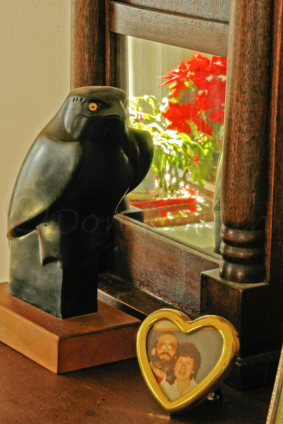 Maltese Falcon, MIrror, Flowers and Us from ages ago.