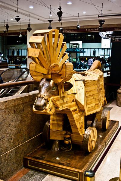 Trojan Bull, South Station, Boston by