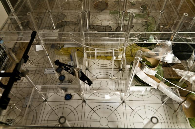 "EcoTarium Exhibit space Model. Scale is 3/8"" to 1' - 0"" plexi built by myself."