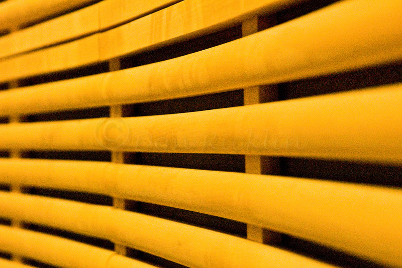 Yellow Slat Acoustical Wall in a Media Auditorium<br /> <br /> Worcester State Collage.
