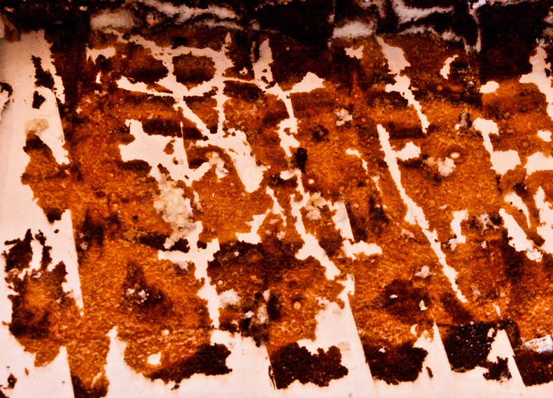Former chocolate cake abstract.