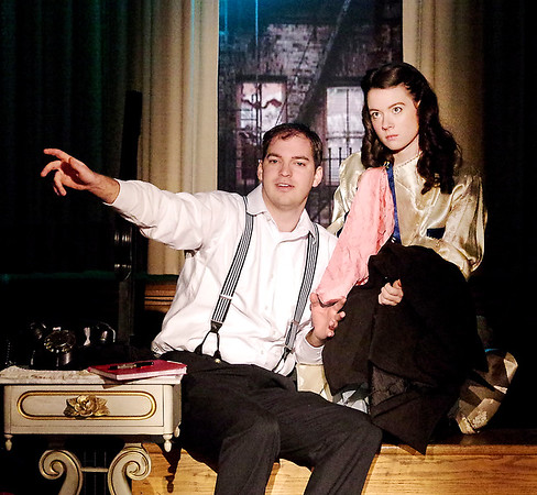 """Mark Maynard   for The Herald Bulletin<br /> Joshua Wilkinson and Alaina Porch portray Young Tom Wingfiled and his sister Laura in The Alley Theatre's production of """"The Glass Menagerie."""""""
