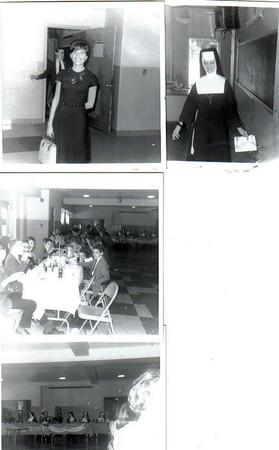Clockwise from upper left: Miss Patrizio, Sister Victorette, 8th grade graduation luncheon