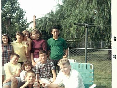 left to right:  Margie Zanger, Gary Hildabrand, Kathy Wilcox, Ann Baldwin, Bonnie Barry, Bubba O'Connor  Mark Caporale, Marsha Hasson, Bill Sonnefeld, Jim Gajan Steve Monahan in front