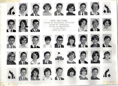 class of 1967  grade 8a