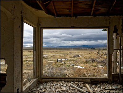Bay Window in Abandoned House