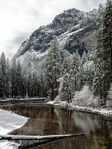 merced river through yosemite