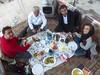 Masoom, Ali, Mohammed & Neda and I enjoy a hearty dinner together.