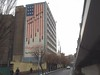 The famous American flag mural, with it's bombs and skulls, doesn't seem congruous with the core principles of a religious republic...