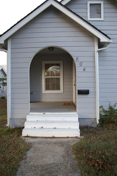 This is a better view of the porch--the best exterior feature of the house.