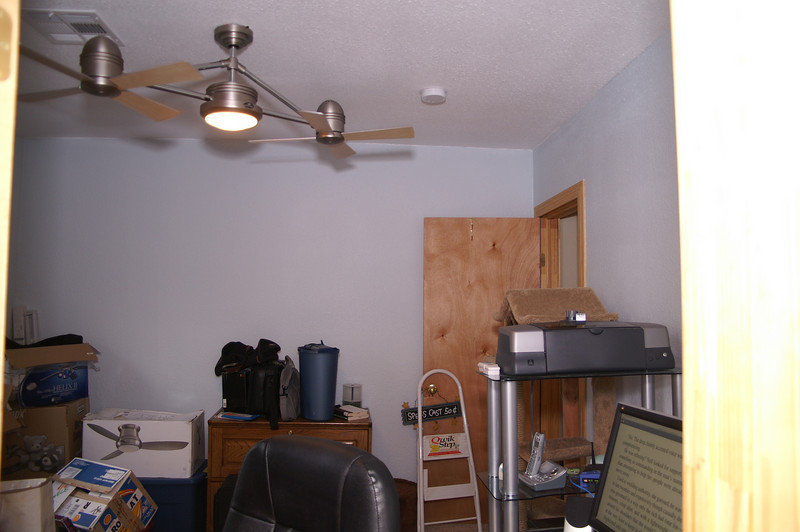 The office taken from the kitchen.