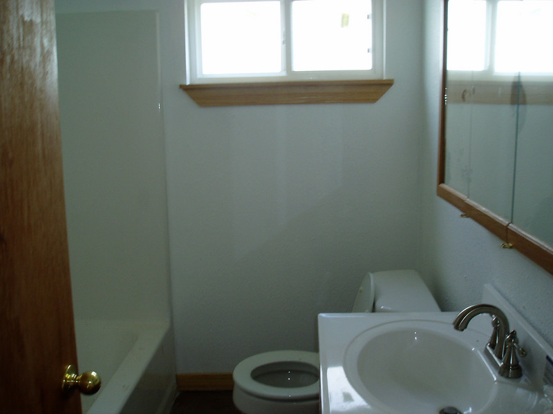 Yes, the one and only bathroom really is that tiny. I would like to make the door a pocket door.