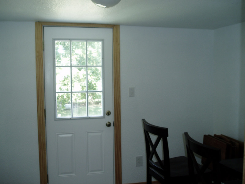 This is the utility room and back door shot from the kitchen area.