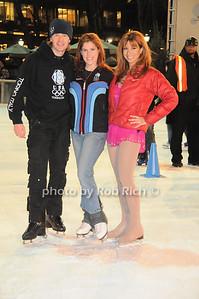 US Olympic Skaters Denis Peetukhov and Melissa Gregory, Jill Zarin photo by Rob Rich © 2009 robwayne1@aol.com 516-676-3939