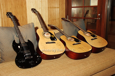 Guitars signed by the Jonas Brothers