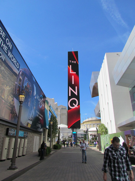 The vertical sign at the entrance across from Caesars.