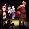 Mark Maynard | for The Herald Bulletin<br /> Princess Alais of France (Ashley Hastings) confronts Henry II (Daniel Clymer) as his sons, John (Silas Morton) and Richard (Joshua Wilkerson), and his wife Eleanor (Rhonda Tinch-Mize) look on.