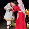 "Mark Maynard | for The Herald Bulletin<br /> Eleanor (Rhonda Tinch-Mize) takes a dagger away from her son Richard (Joshua Wilkinson) in ""The LIon in Winter"" presented by the Alley Theatre."