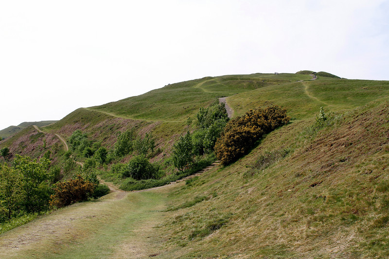 'The British Camp', an extensive ironage earthwork.