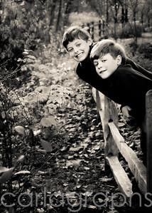 boys on the fence (quincy's idea!) bw-