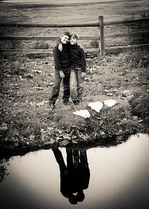 boys reflected sepia-5531