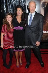 Morgan Eastwood,  Dina Ruiz Eastwood, Clint Eastwood - photo by Rob Rich © 2008 516-676-3939 robwayne1@aol.com
