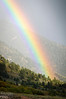 That evening I chased a storm going down Ute Pass, and the setting sun regaled me with a beautiful rainbow.