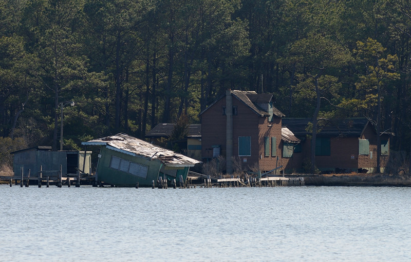 "Both the oyster shack and the corn crib were washed away during ""Sandy""....this image taken from across Green Run Cove."