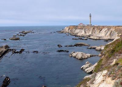 Point Arena lighthouse, California coast.
