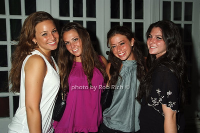 Angela Lovaglio, Haley Friedman, Carly Wine, Jenna Schwartz photo by Rob Rich © 2008 516-676-3939 robwayne1@aol.com