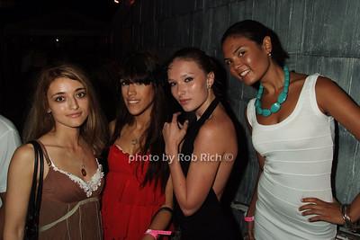 Shana Puskvova, Lana Bianco, Polina Korshokova, Tiffany Carlin photo by Rob Rich © 2008 516-676-3939 robwayne1@aol.com