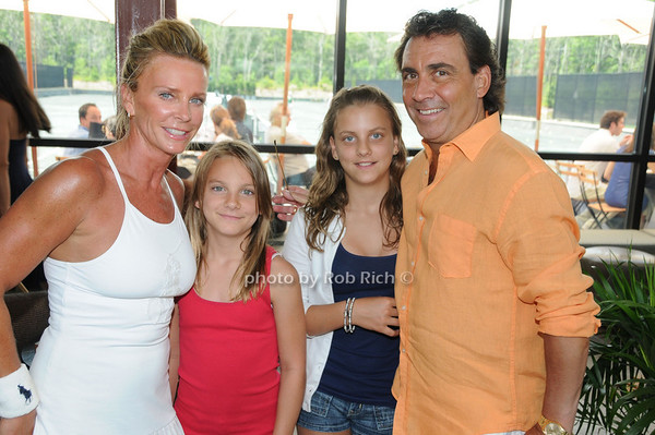 Easthampton- June27,2009:(l-r)  Susan McMenamin ,Savannah  McMenamin , Sabrina McMenamin , Ed McMenamin attend the Ross School 1st. Annual Pro Am Tennis Tournament at the Ross School in Easthampton on June 27,2009. photo by Rob Rich/SocietyAlllure.com