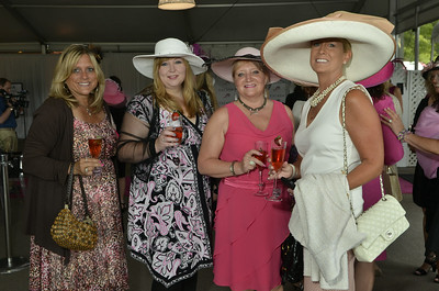 J.S.Carras/The Saratogian  during The Sizzling Hot Pink Saratoga Hat Luncheon presented by ESCADA to benefit The Breast Cancer Research Foundation through Play for P.I.N.K. Friday, August 15, 2014  in the At the Rail Pavilion at Saratoga Race Course in Saratoga Springs, N.Y..